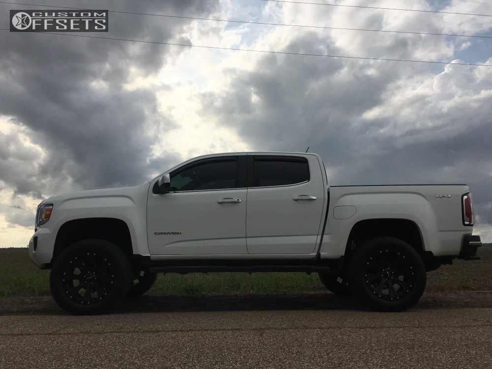 2016 Gmc Canyon Helo He901 Rough Country Suspension Lift 4in Custom Offsets