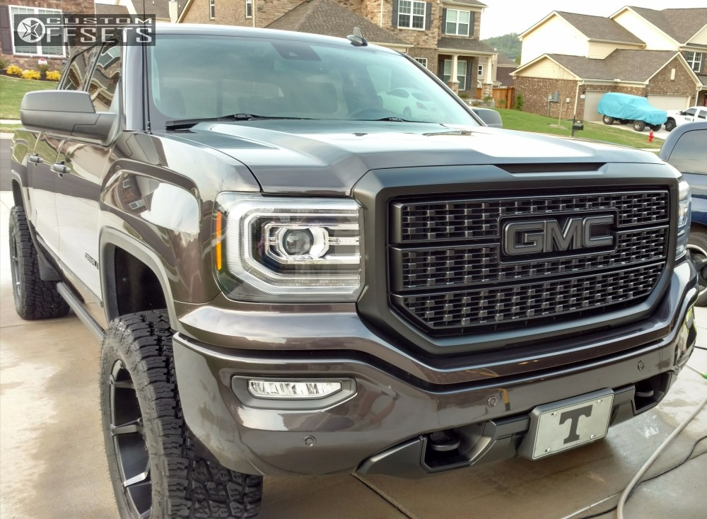 1 2016 Sierra 1500 Gmc Suspension Lift 4 Fuel 556 Machined Black Slightly Aggressive
