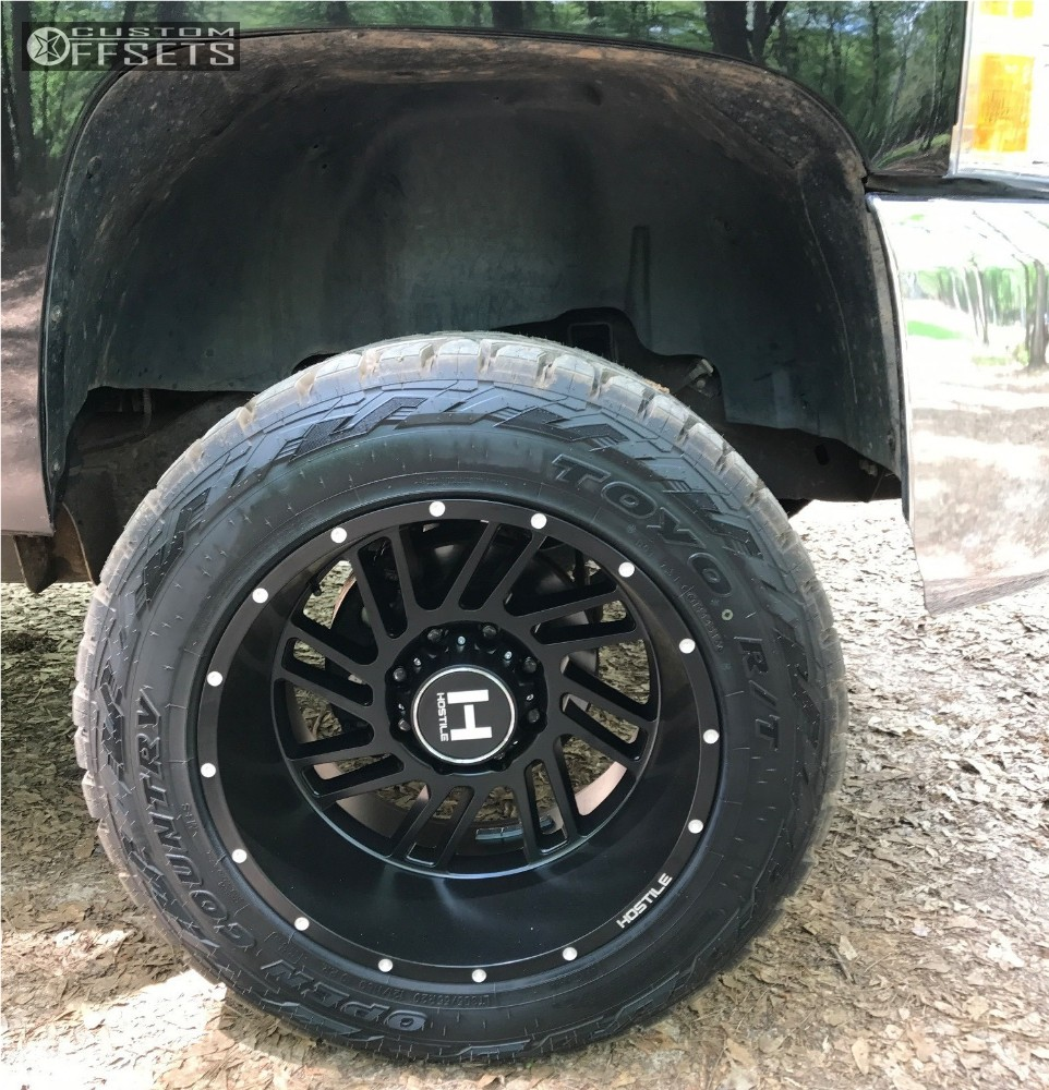 5 2008 Silverado 2500 Hd Chevrolet Leveling Kit Hostile Stryker Black Aggressive 1 Outside Fender