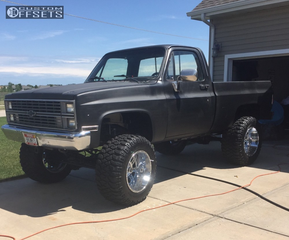1 1984 K10 Chevrolet Suspension Lift 6 Xd Riot Chrome Slightly Aggressive