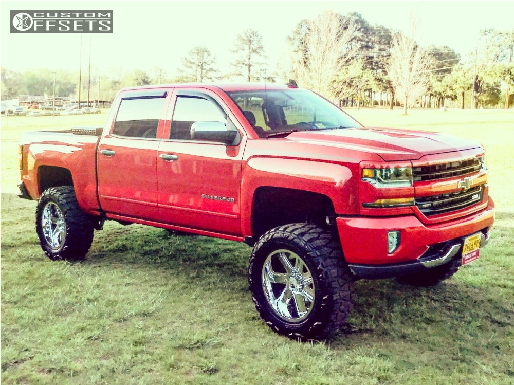 Chevy Silverado Custom Wheels >> 2016 Chevrolet Silverado 1500 Hostile Switch Blade Rough Country Suspension Lift 7in