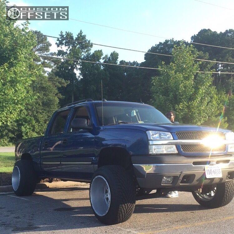 1 2004 Silverado 1500 Chevrolet Suspension Lift 6 Kmc Xd Riots Silver Hella Stance 5