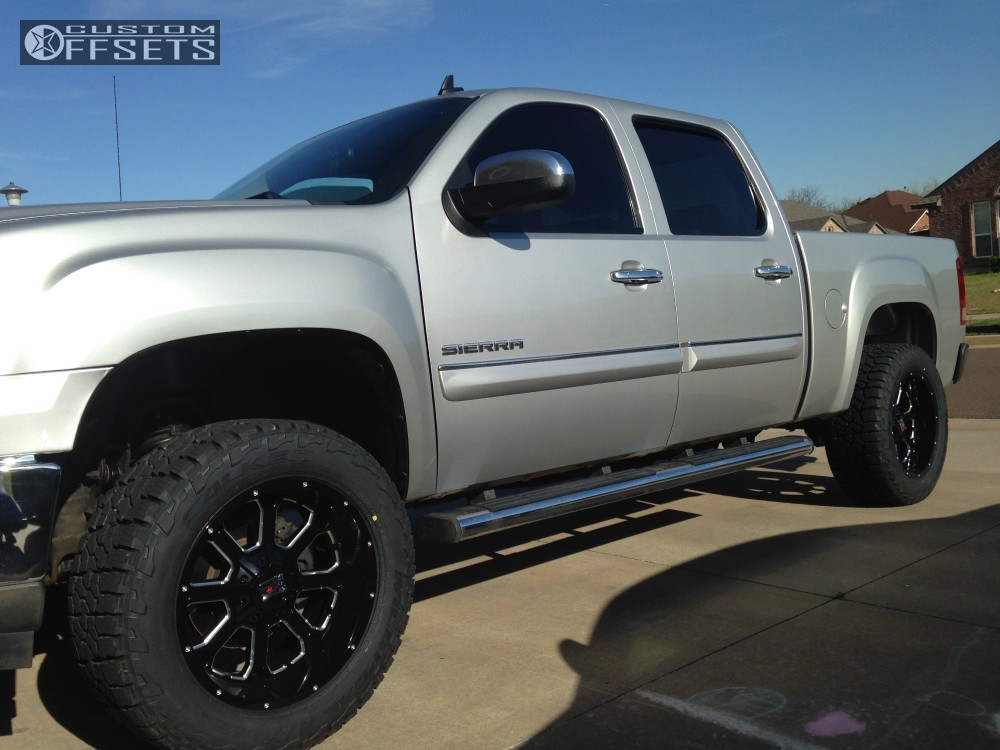 2011 gmc sierra 1500 xd xd825 rough country suspension. Black Bedroom Furniture Sets. Home Design Ideas