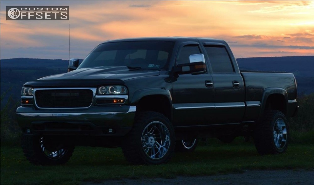 1 2002 Sierra 1500 Hd Gmc Body Lift 3 Hostile Stryker Chrome Super Aggressive 3 5