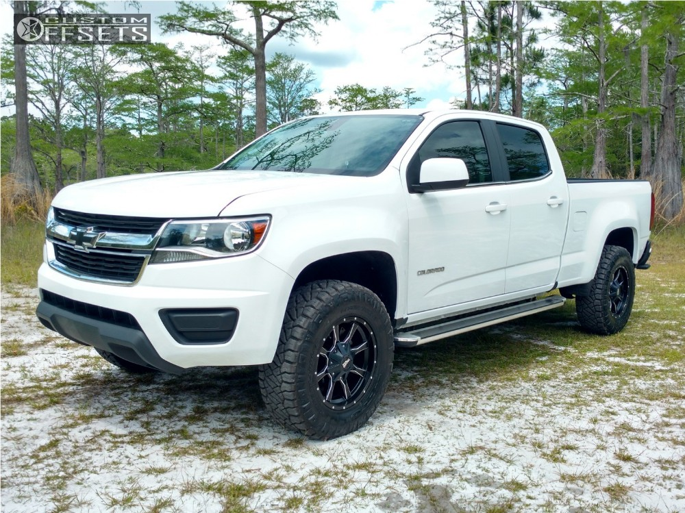 1 2015 Colorado Chevrolet Leveling Kit Moto Metal Mo970 Machined Accents Slightly Aggressive