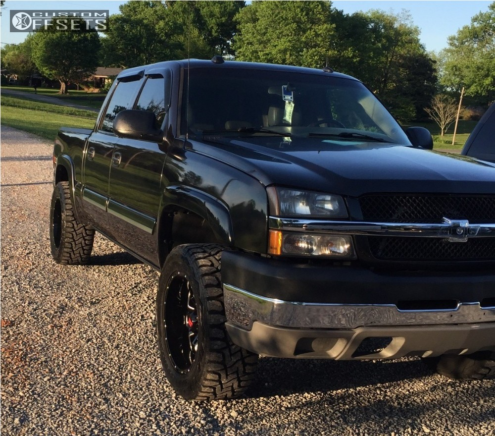 All Chevy chevy 1500 leveling kit : 2005 Chevrolet Silverado 1500 Havok H109 Rough Country Leveling ...