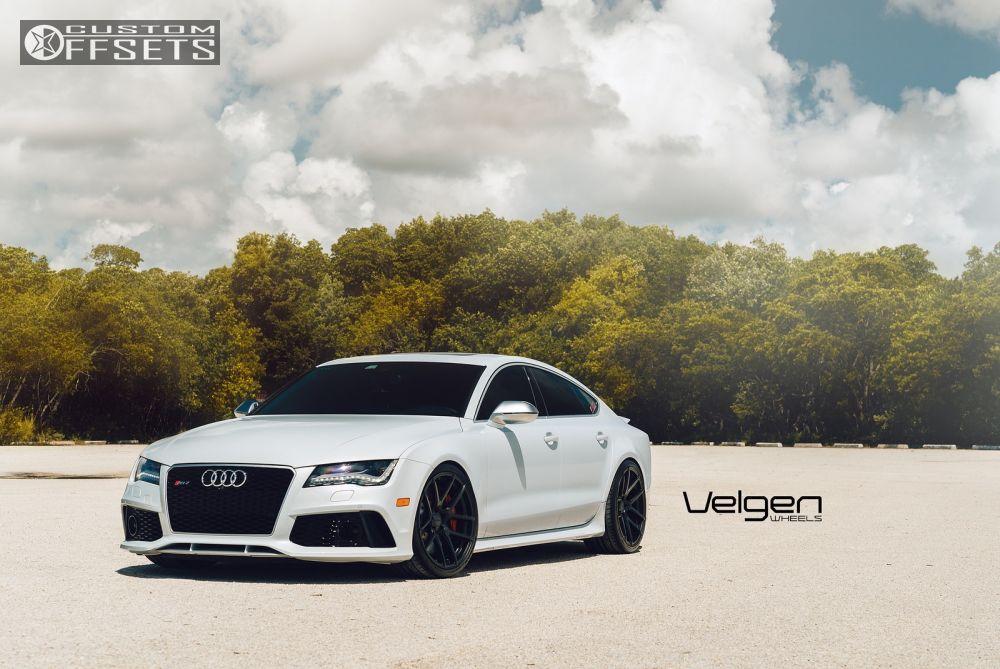 Wheel Offset 2014 Audi Rs7 Flush Stock Custom Rims Custom Offsets