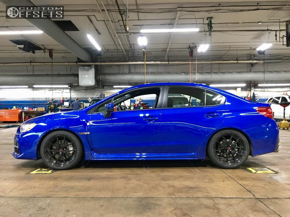 2017 Sti Lowered >> Wheel Offset 2017 Subaru Wrx Tucked Lowered On Springs
