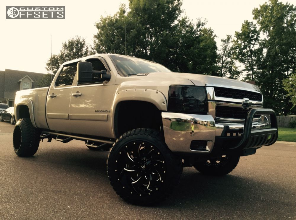 1 2008 Silverado 2500 Hd Chevrolet Suspension Lift 6 Fuel Cleaver Black Super Aggressive 3 5