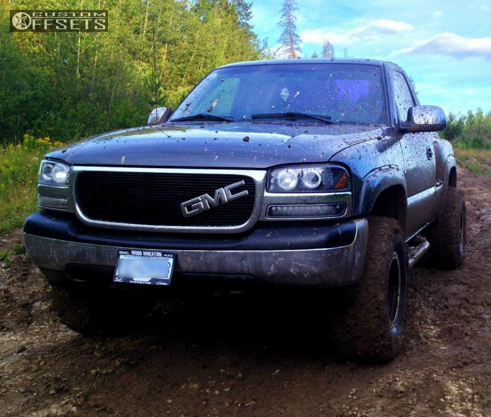 1 2001 Sierra 1500 Gmc Leveling Kit Alloy Ion Style 174 Machined Accents Super Aggressive 3 5