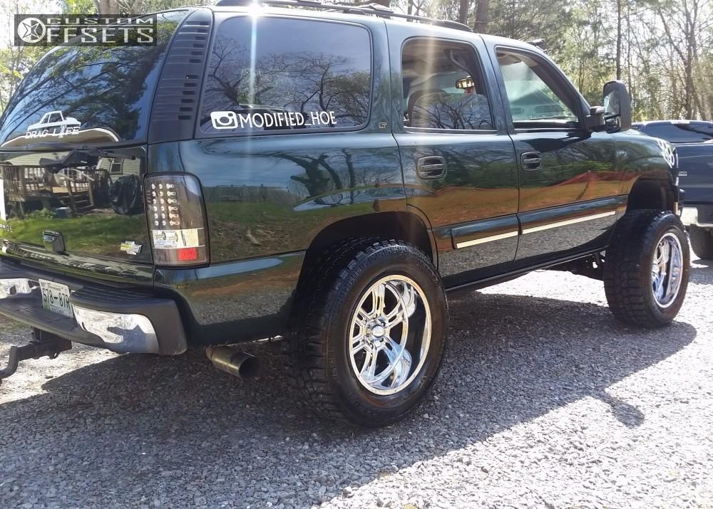 13 2001 Tahoe Chevrolet Suspension Lift 5 Ultra Predator Chrome Super Aggressive 3 5