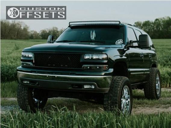 2 2001 Tahoe Chevrolet Suspension Lift 5 Ultra Predator Chrome Super Aggressive 3 5