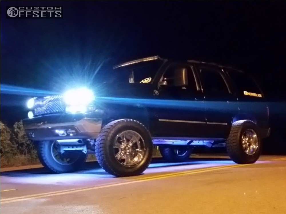 7 2001 Tahoe Chevrolet Suspension Lift 5 Ultra Predator Chrome Super Aggressive 3 5