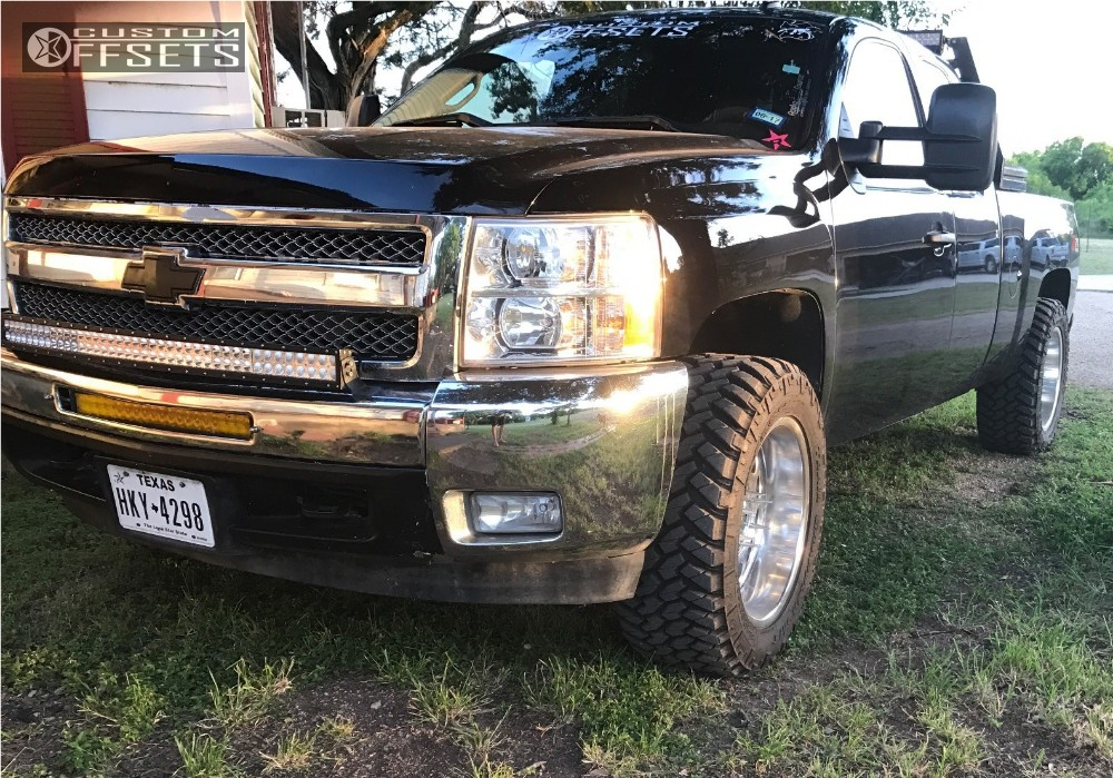 1 2013 Silverado 1500 Chevrolet Leveling Kit American Eagle 101 Polished Aggressive 1 Outside Fender