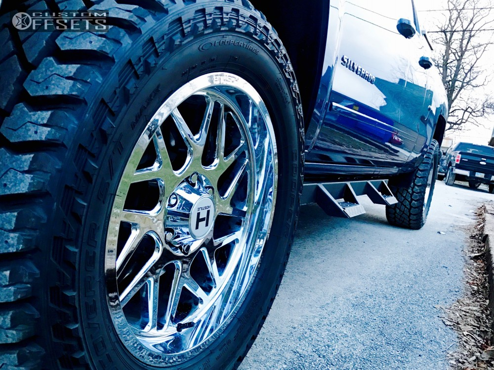 3 2016 Silverado 1500 Chevrolet Leveling Kit Hostile Sprocket Chrome Flush