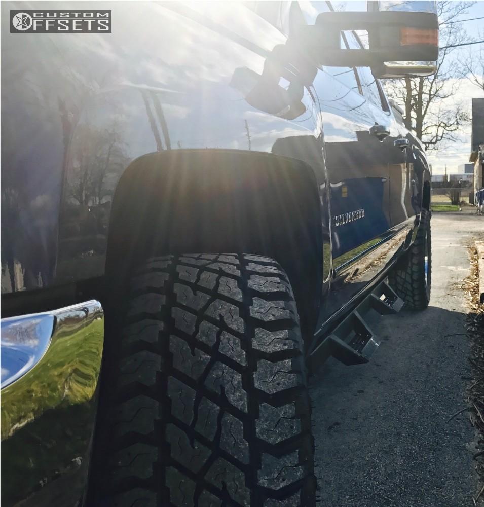 4 2016 Silverado 1500 Chevrolet Leveling Kit Hostile Sprocket Chrome Flush