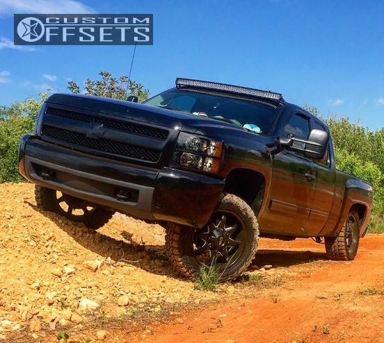 1 2013 Silverado 1500 Chevrolet Leveling Kit Ion Alloy Style 181 Black Slightly Aggressive