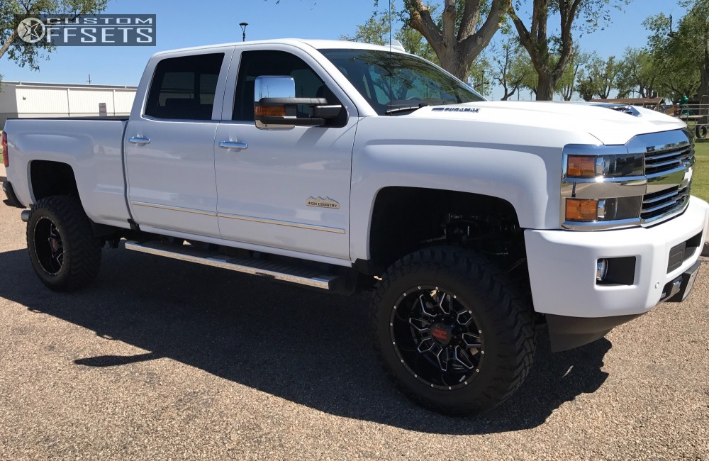 1 2017 Silverado 2500 Hd Chevrolet Suspension Lift 5 Havok H109 Machined Black Aggressive 1 Outside Fender