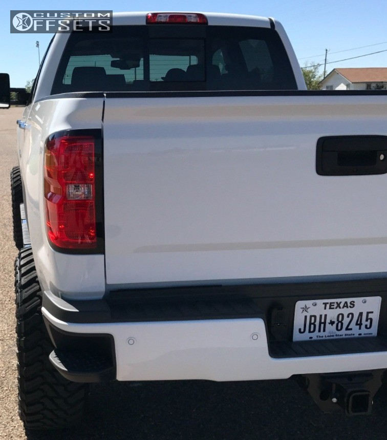 3 2017 Silverado 2500 Hd Chevrolet Suspension Lift 5 Havok H109 Machined Black Aggressive 1 Outside Fender