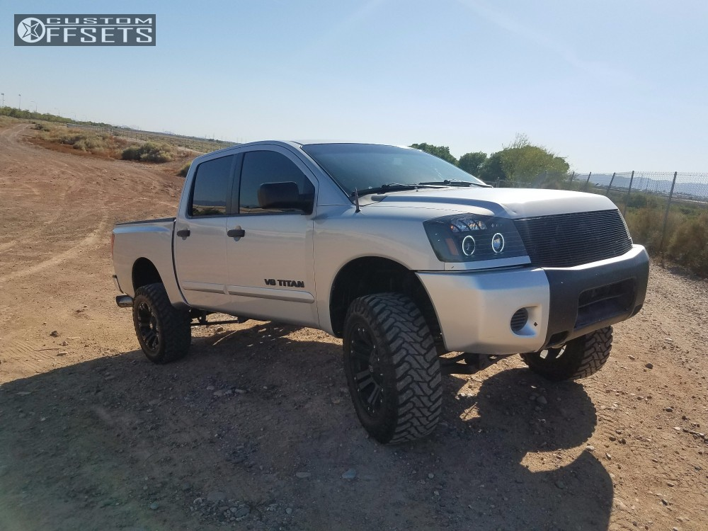 2008 nissan titan xd monster rough country suspension lift 6in. Black Bedroom Furniture Sets. Home Design Ideas