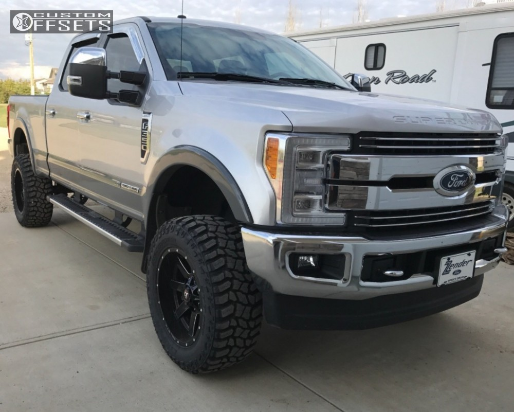 1 2017 F 350 Super Duty Ford Suspension Lift 4 Ballistic Rage Black Aggressive 1 Outside Fender