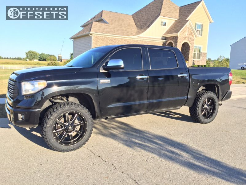 Wheel Offset 2014 Toyota Tundra Slightly Aggressive Leveling Kit