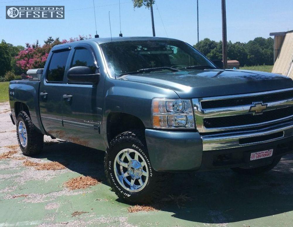 1 2009 Silverado 1500 Chevrolet Leveling Kit Fuel Mavrick Chrome Slightly Aggressive