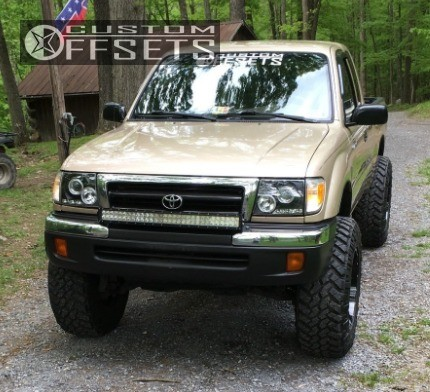 1 1998 Tacoma Toyota Suspension Lift 4 Moto Metal Mo970 Machined Black Super Aggressive 3 5