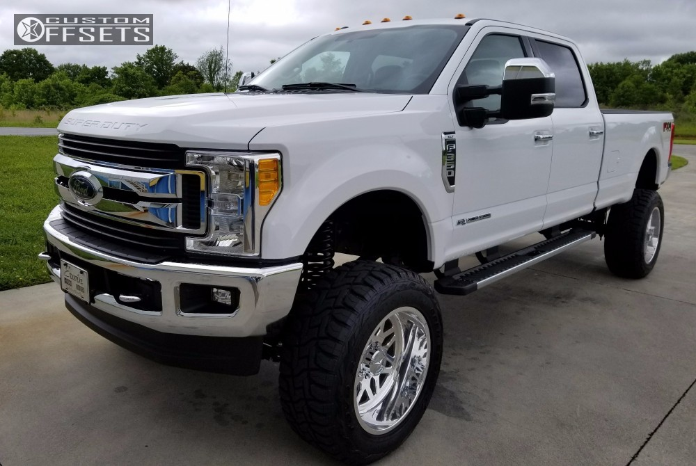 1 2017 F 350 Super Duty Ford Suspension Lift 85 American Force Trax Ss8 Polished Super Aggressive 3 5