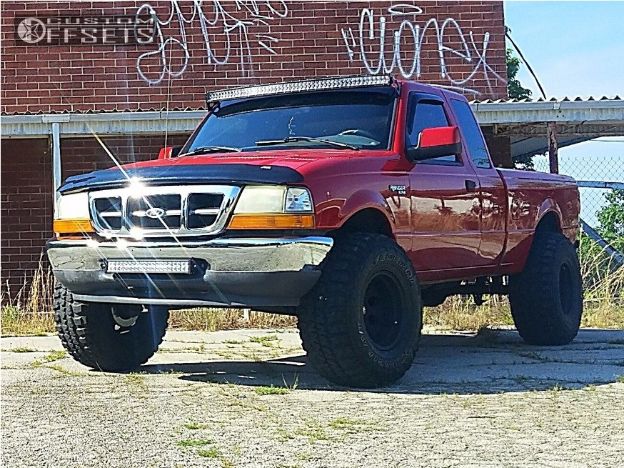 12 2000 ranger ford suspension lift 4 pro comp 01 matte black aggressive 1 outside fender