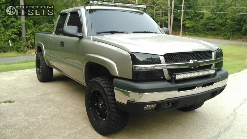 1 2003 Silverado 1500 Chevrolet Leveling Kit Fuel Offroad Hostage Black Aggressive Outside Fender