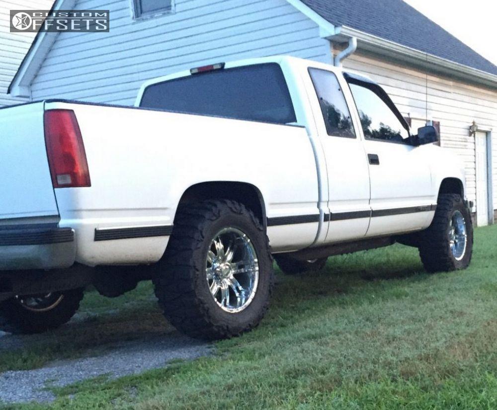 Truck 1998 custom chevy trucks : Wheel Offset 1998 Chevrolet Silverado Slightly Aggressive Leveling ...