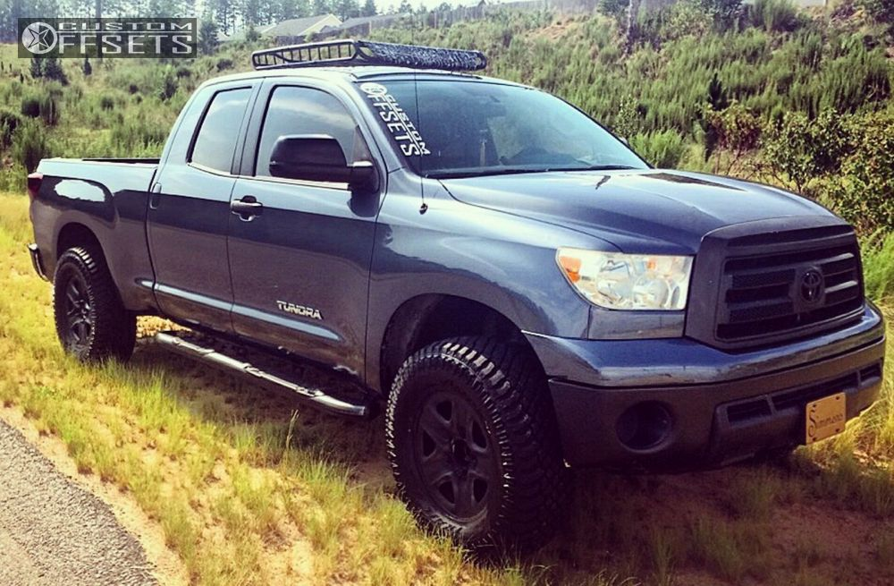 ... 1 2010 Tundra Toyota Leveling Kit Spaced Out Stockers Spaced Out  Stockers Black Aggressive 1 Outside ...