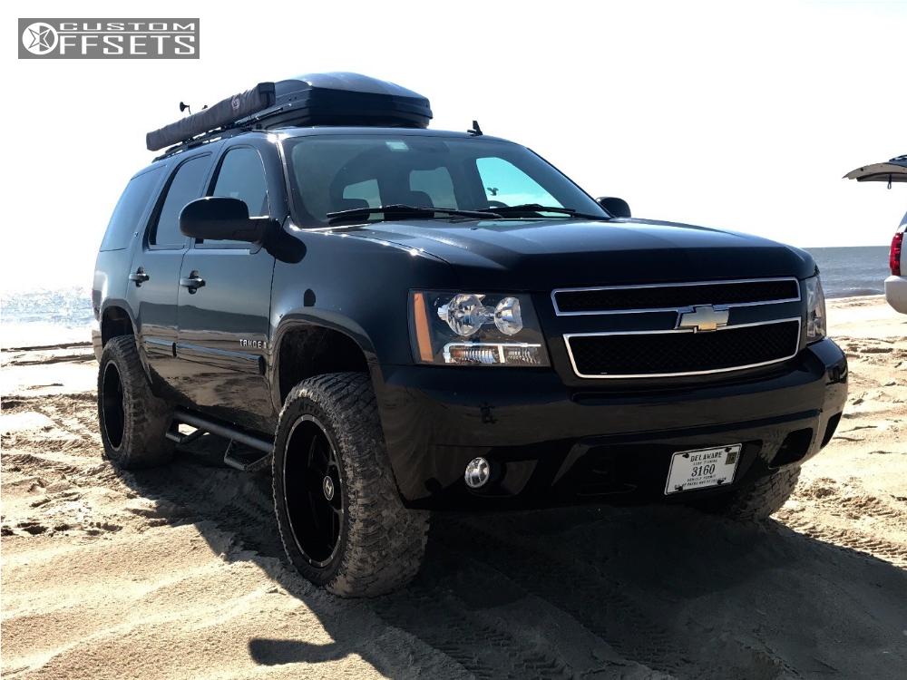 8 2008 Tahoe Chevrolet Leveling Kit Hostile Gauntlet Black Aggressive 1 Outside Fender