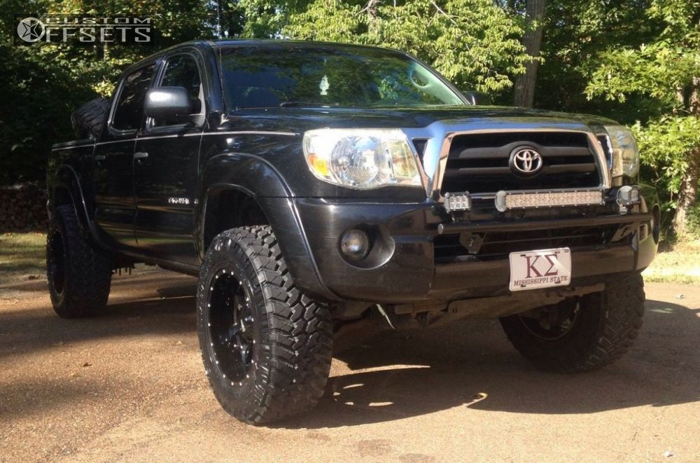 2bbdba29778 3 2009 Tacoma Toyota Suspension Lift 3 Moto Metal Mo970 Black Slightly  Aggressive