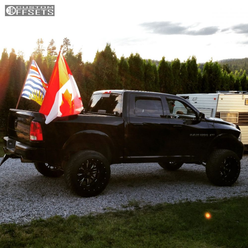 2012 Dodge Ram 1500 Fuel Throttle Rough Country Suspension Lift 9in Exhaust 10 9 Black Super Aggressive 3 5