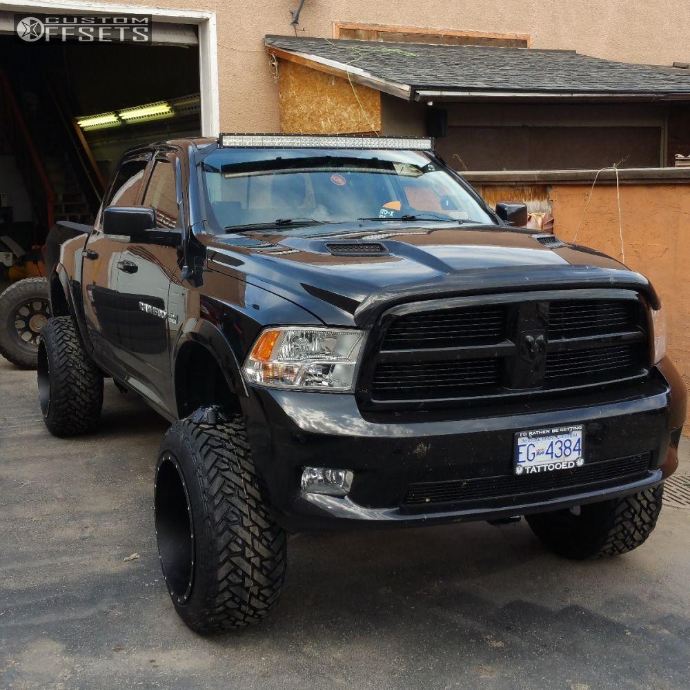 2012 Dodge Ram 1500 Rough Country Suspension Lift 9 6 Inch Fuel Throttle Black Super Aggressive 3 5