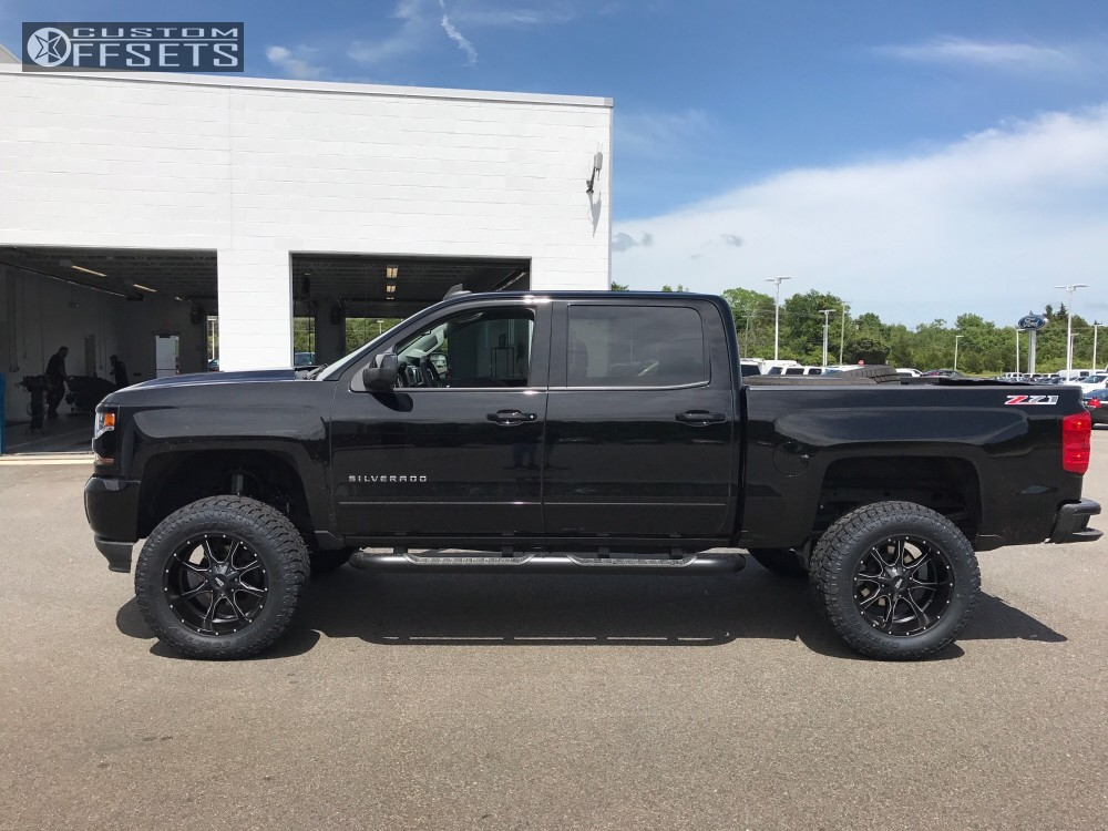 1 2017 Silverado 1500 Chevrolet Suspension Lift 6 Moto Metal Mo970 Black Milled Super Aggressive 3 5