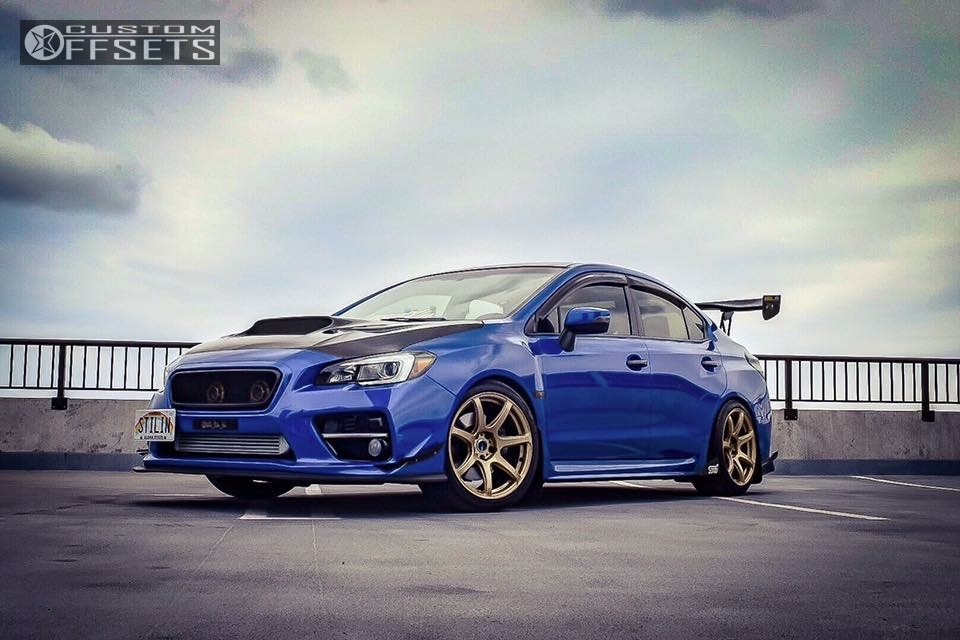 2016 Subaru Wrx Sti Work Emotion T7r K Sport Coilovers