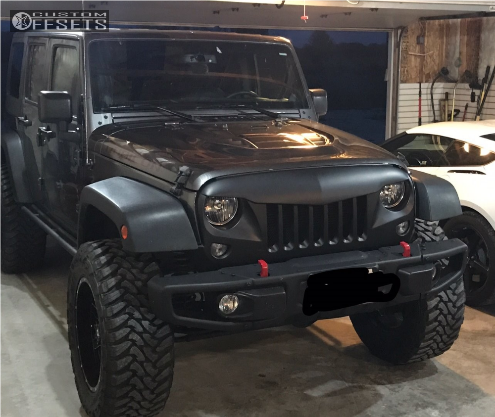 """2014 Jeep Wrangler Slightly Aggressive on 20x12 -44 offset Ballistic Rage and 35""""x12.5"""" Toyo Tires Open Country M/T on Suspension Lift 3.5"""" - Custom Offsets Gallery"""