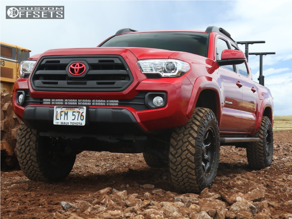 1 2016 Tacoma Toyota Suspension Lift 35 Moto Metal Mo970 Black Aggressive 1 Outside Fender