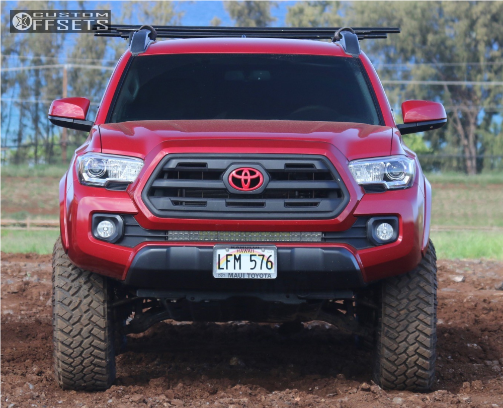6 2016 Tacoma Toyota Suspension Lift 35 Moto Metal Mo970 Black Aggressive 1 Outside Fender