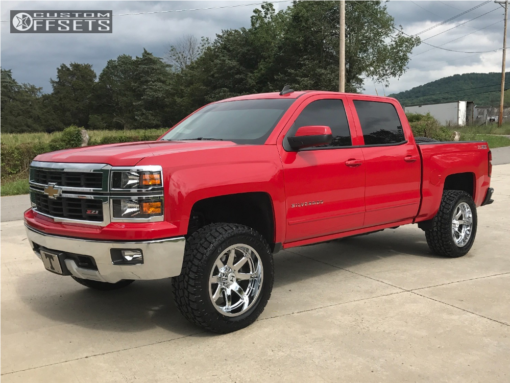 1 2015 Silverado 1500 Chevrolet Suspension Lift 35 Hostile Alpha Chrome Aggressive 1 Outside Fender