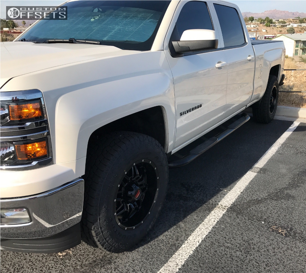 14 2014 Silverado 1500 Chevrolet Leveling Kit Havok H109 Black Slightly Aggressive