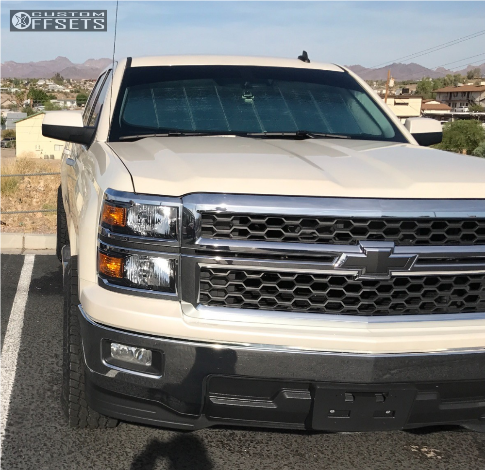 16 2014 Silverado 1500 Chevrolet Leveling Kit Havok H109 Black Slightly Aggressive