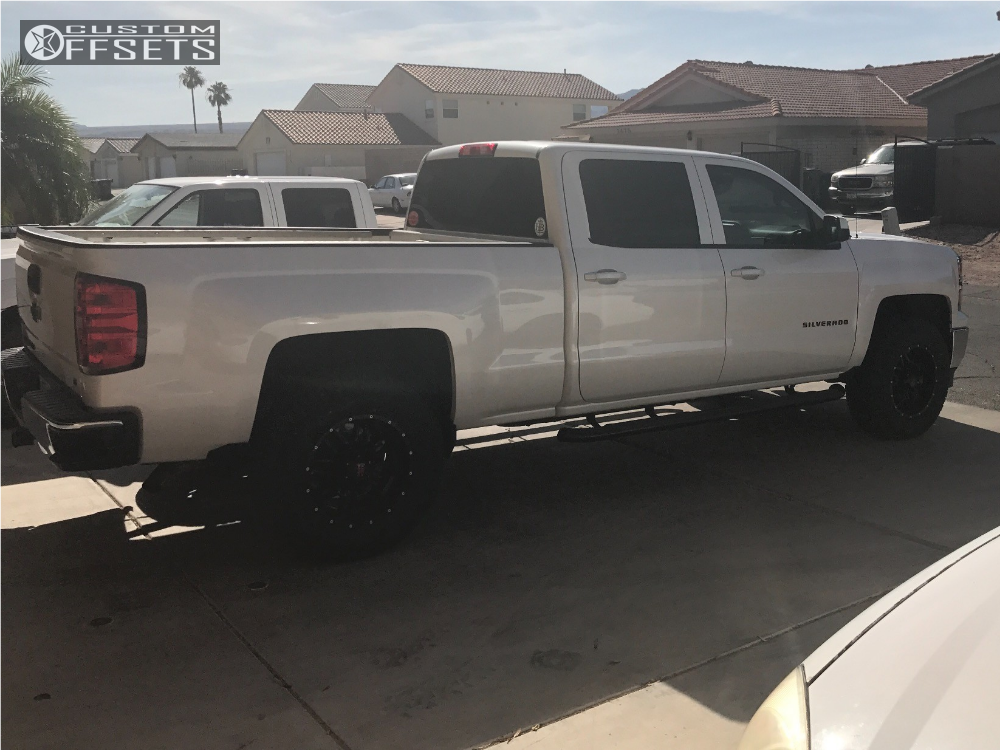 4 2014 Silverado 1500 Chevrolet Leveling Kit Havok H109 Black Slightly Aggressive