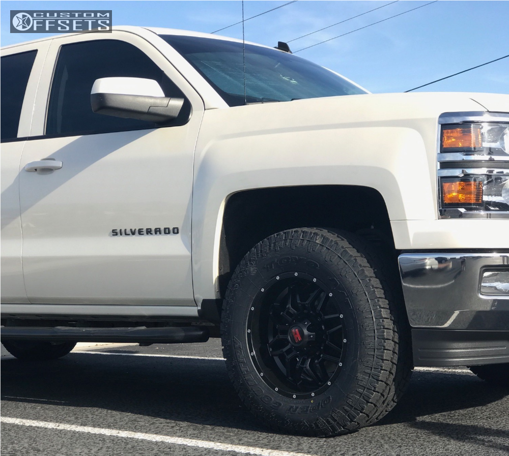 9 2014 Silverado 1500 Chevrolet Leveling Kit Havok H109 Black Slightly Aggressive