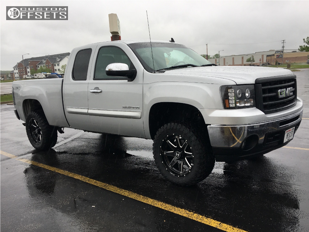 1 2013 Sierra 1500 Gmc Suspension Lift 35 Hostile Alpha Machined Black Slightly Aggressive