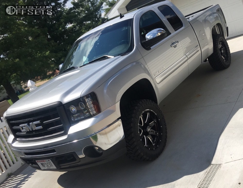 12 2013 Sierra 1500 Gmc Suspension Lift 35 Hostile Alpha Machined Black Slightly Aggressive