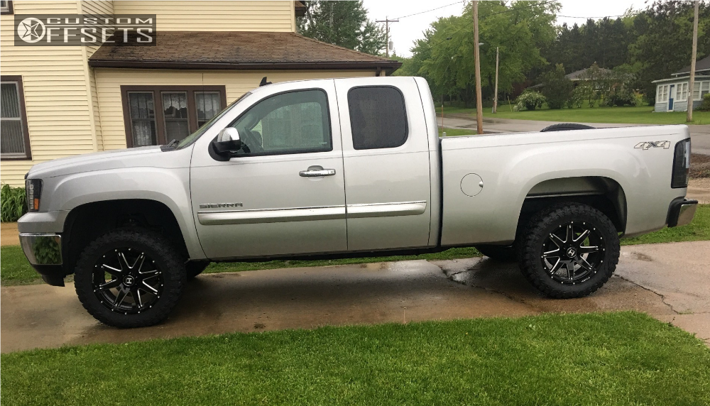 14 2013 Sierra 1500 Gmc Suspension Lift 35 Hostile Alpha Machined Black Slightly Aggressive
